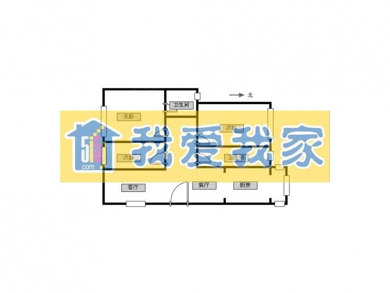 北京我爱我家半毛坯房,户型好,价格便宜,对面就是大学。第11张图
