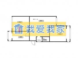 北京我爱我家山水汇豪 正规两居 户型好 南北通透第7张图
